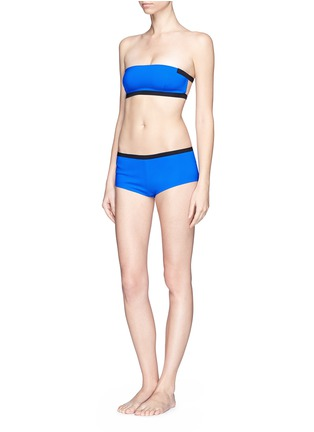 Figure View - Click To Enlarge - T By Alexander Wang - Two tone bonded tricot swim boy shorts