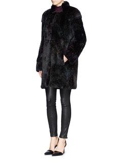 HOCKLEY'Albatross' rex rabbit fur coat