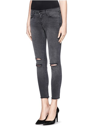 Front View - Click To Enlarge - J Brand - Photo Ready distressed cropped skinny jeans