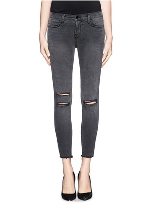 Main View - Click To Enlarge - J Brand - Photo Ready distressed cropped skinny jeans
