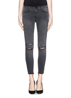 J BRAND Photo Ready distressed cropped skinny jeans