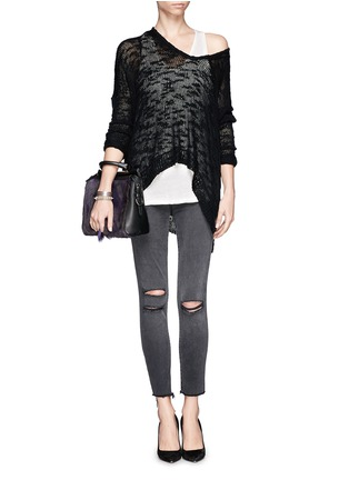 Figure View - Click To Enlarge - J Brand - Photo Ready distressed cropped skinny jeans
