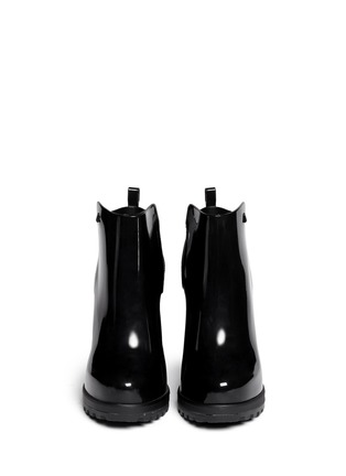 Figure View - Click To Enlarge - Melissa - 'Soldier' matte heel glossy rubber Chelsea boots