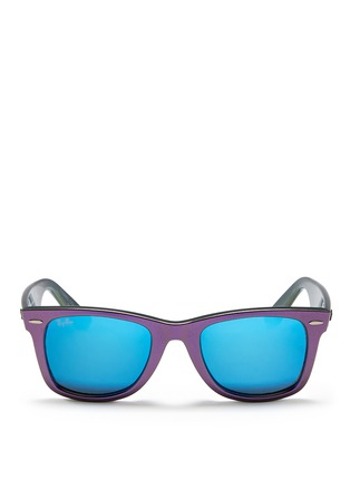 Main View - Click To Enlarge - Ray-Ban - 'Original Wayfarer Cosmo Saturn' iridescent acetate sunglasses