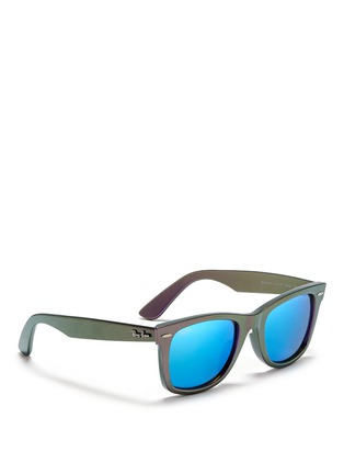 Figure View - Click To Enlarge - Ray-Ban - 'Original Wayfarer Cosmo Saturn' iridescent acetate sunglasses