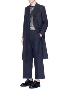 Dries Van NotenCollar strap cotton-linen coat