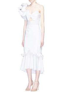 Johanna Ortiz'Maloka' one-shoulder ruffled cotton mermaid dress