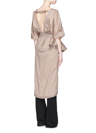 Back View - Click To Enlarge - Johanna Ortiz - 'Patagonia' bow belt ruffle trench coat