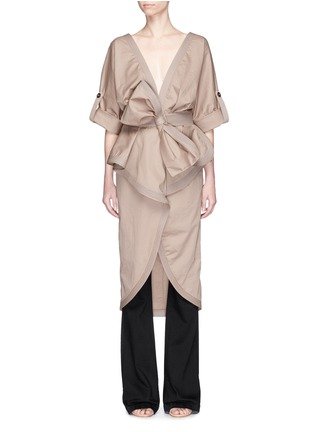 Main View - Click To Enlarge - Johanna Ortiz - 'Patagonia' bow belt ruffle trench coat