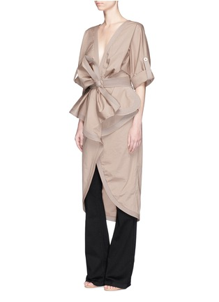Figure View - Click To Enlarge - Johanna Ortiz - 'Patagonia' bow belt ruffle trench coat