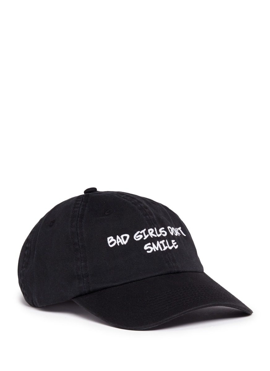 Bad Girls Dont Smile embroidered baseball cap by Nasaseasons