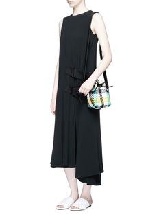 Truss Woven plaid PVC bucket bag