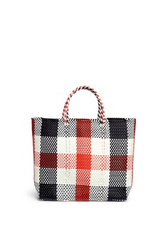Truss Medium woven plaid PVC tote