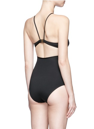 Back View - Click To Enlarge - Ephemera - Split one-piece swimsuit