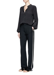 Chloé Piped sport stripe cady pants