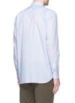 'Spirit' cutout print stripe shirt