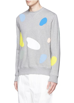 Front View - Click To Enlarge - Tim Coppens - 'Mushroom Spot' print sweatshirt