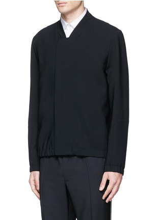 Front View - Click To Enlarge - Tim Coppens - Bonded virgin wool bomber jacket