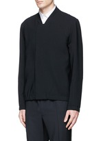 Bonded virgin wool bomber jacket