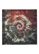 Tie dye print silk scarf