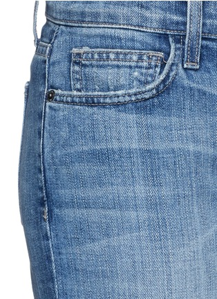 Detail View - Click To Enlarge - Current/Elliott - 'The Cuffed Skinny' wide cuff jeans