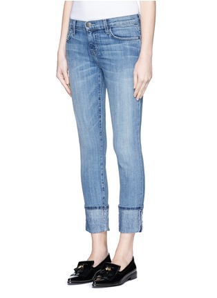 Front View - Click To Enlarge - Current/Elliott - 'The Cuffed Skinny' wide cuff jeans
