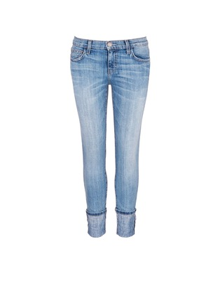 Main View - Click To Enlarge - Current/Elliott - 'The Cuffed Skinny' wide cuff jeans