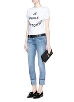 'The Cuffed Skinny' wide cuff jeans