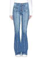 'The Judy Flare' high waist distressed denim pants