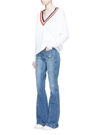 Current/Elliott-'The Judy Flare' high waist distressed denim pants