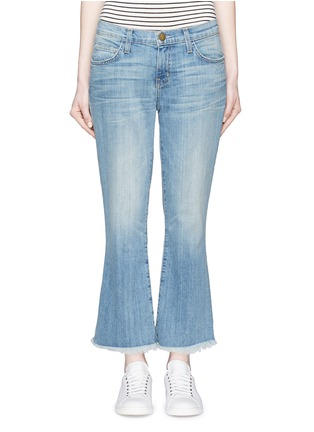Detail View - Click To Enlarge - Current/Elliott - 'The Cropped Flip Flop' frayed hem flared jeans