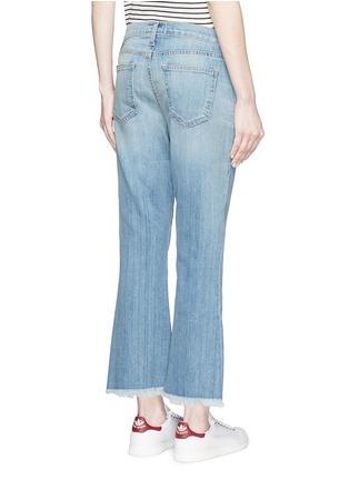 Back View - Click To Enlarge - Current/Elliott - 'The Cropped Flip Flop' frayed hem flared jeans