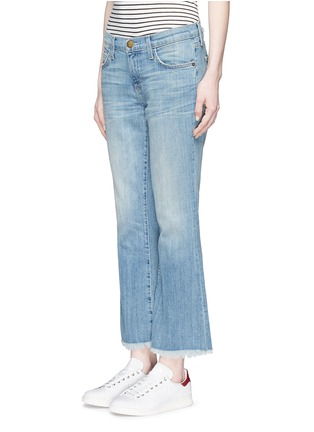 Front View - Click To Enlarge - Current/Elliott - 'The Cropped Flip Flop' frayed hem flared jeans