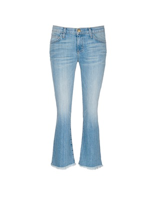Main View - Click To Enlarge - Current/Elliott - 'The Cropped Flip Flop' frayed hem flared jeans