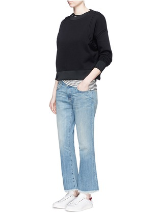 Figure View - Click To Enlarge - Current/Elliott - 'The Cropped Flip Flop' frayed hem flared jeans
