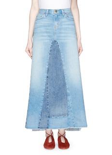 Current/Elliott'The Reconstructed' denim maxi skirt