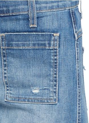Detail View - Click To Enlarge - Current/Elliott - 'The Westward' high waist distressed denim shorts