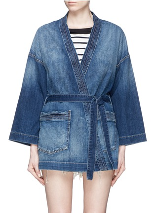 Main View - Click To Enlarge - Current/Elliott - Denim kimono jacket