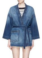 Denim kimono jacket