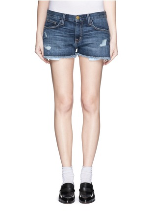 Detail View - Click To Enlarge - Current/Elliott - 'The Boyfriend™' distressed rip frayed shorts