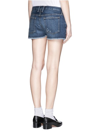 Back View - Click To Enlarge - Current/Elliott - 'The Boyfriend™' distressed rip frayed shorts
