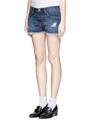 Current/Elliott-'The Boyfriend™' distressed rip frayed shorts