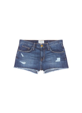 Main View - Click To Enlarge - Current/Elliott - 'The Boyfriend™' distressed rip frayed shorts