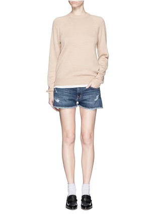 Figure View - Click To Enlarge - Current/Elliott - 'The Boyfriend™' distressed rip frayed shorts