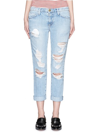 Detail View - Click To Enlarge - Current/Elliott - 'The Fling' distressed jeans