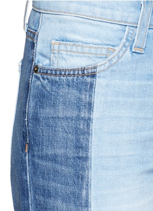 Detail View - Click To Enlarge - Current/Elliott - 'The Seamed Vintage Straight' cropped jeans