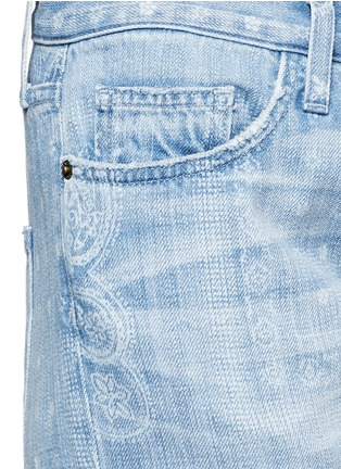 Detail View - Click To Enlarge - Current/Elliott - 'The Boyfriend' bandana print jeans