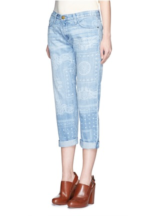 Front View - Click To Enlarge - Current/Elliott - 'The Boyfriend' bandana print jeans