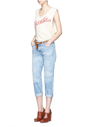 Figure View - Click To Enlarge - Current/Elliott - 'The Boyfriend' bandana print jeans