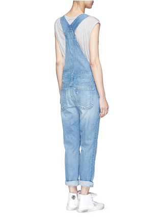 Back View - Click To Enlarge - Current/Elliott - 'The Charley' distressed denim overalls
